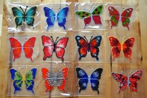 Motýlek na sklo